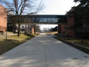 Skywalk looking south March 2011. Photo by Susan Fink, AS'92, GR'95 & '98